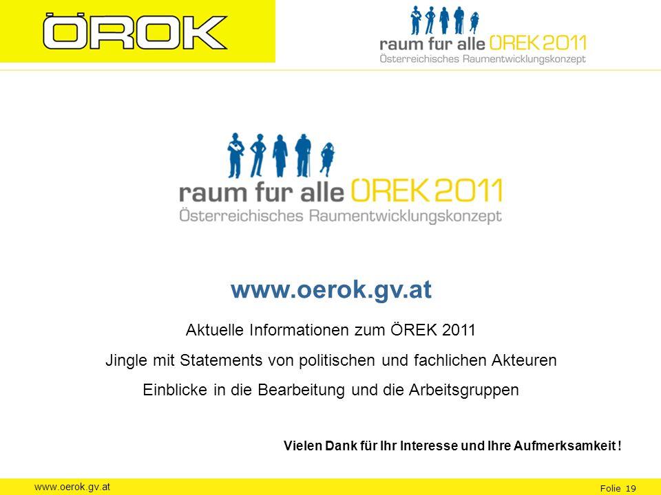 www.oerok.gv.at Aktuelle Informationen zum ÖREK 2011