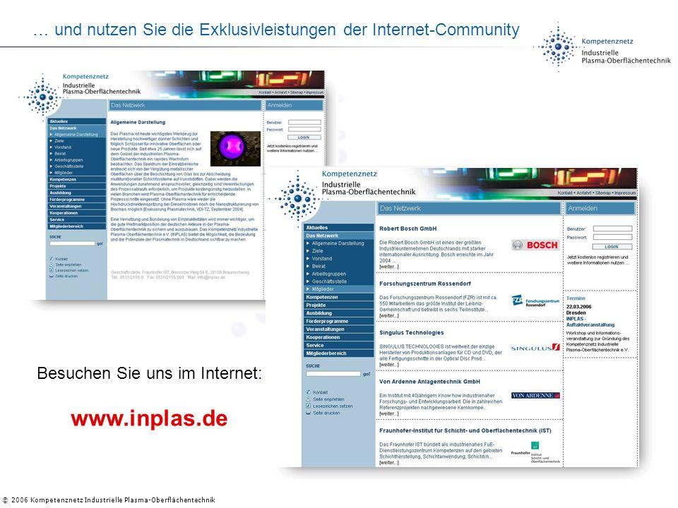 … und nutzen Sie die Exklusivleistungen der Internet-Community