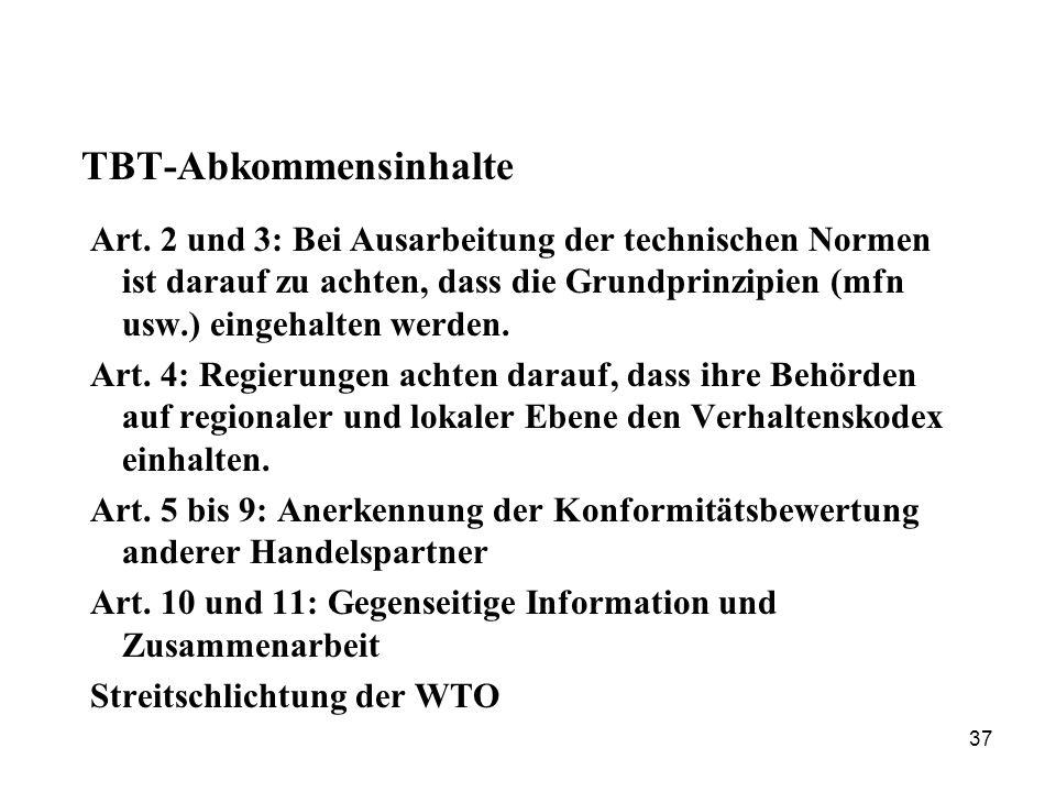 TBT-Abkommensinhalte