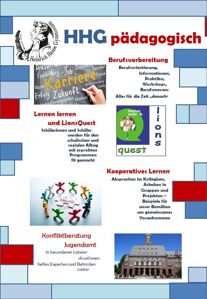 HHG pädagogisch Berufsvorbereitung Lernen lernen und LionsQuest