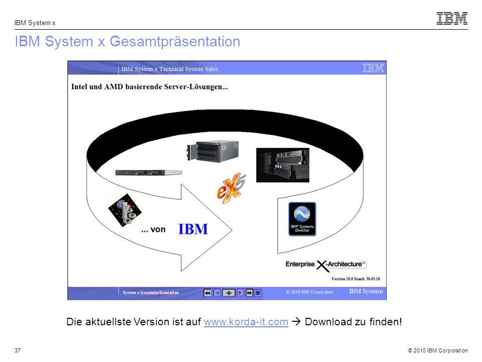IBM System x Gesamtpräsentation