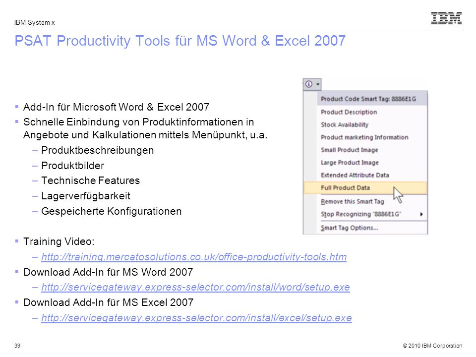 PSAT Productivity Tools für MS Word & Excel 2007