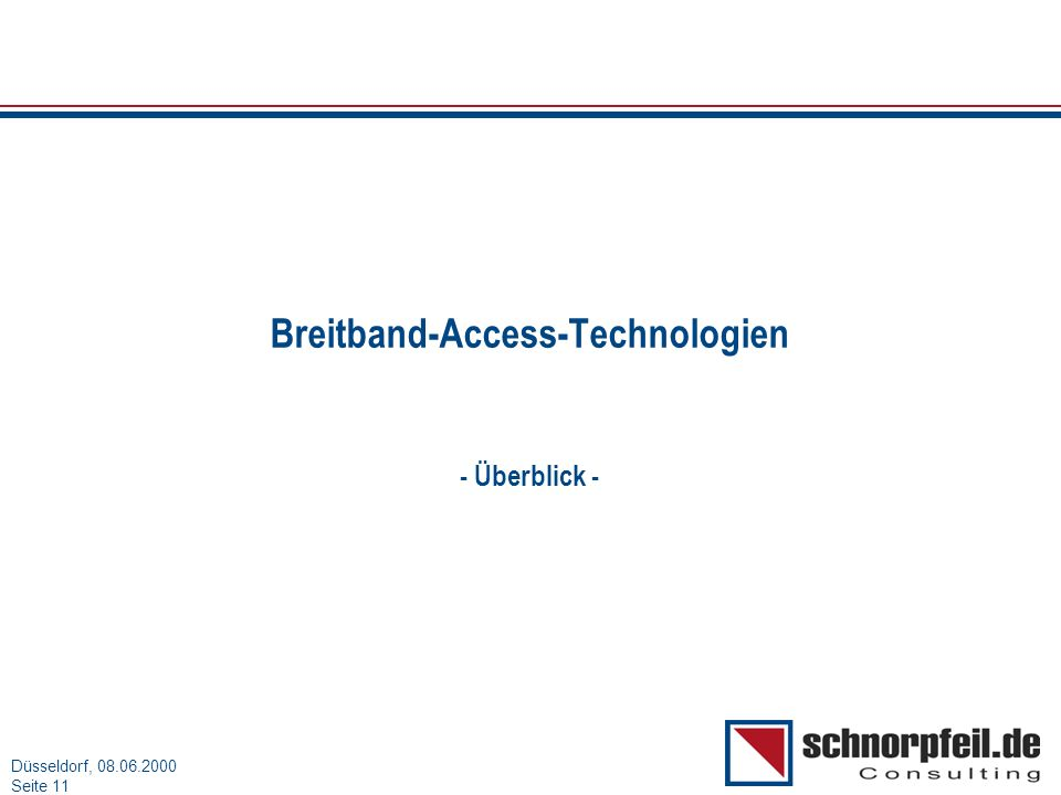 Breitband-Access-Technologien