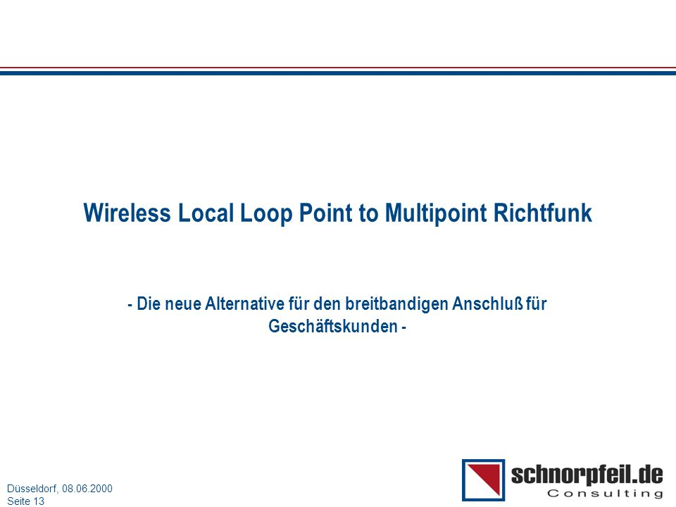 Wireless Local Loop Point to Multipoint Richtfunk