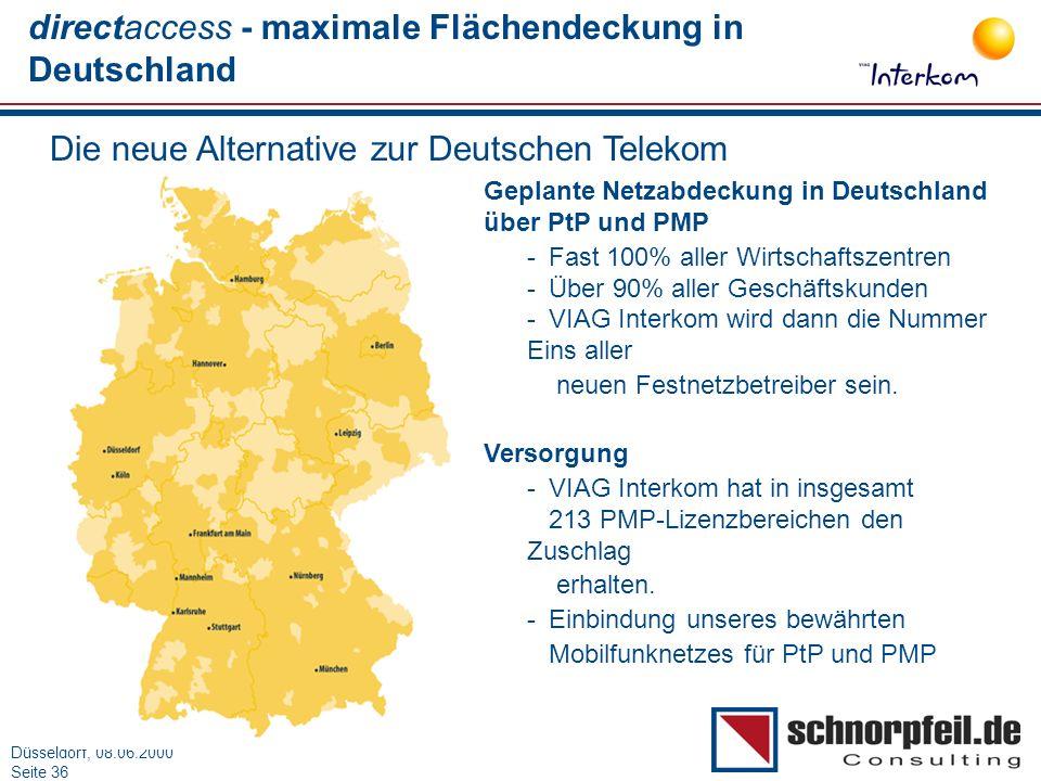 directaccess - maximale Flächendeckung in Deutschland