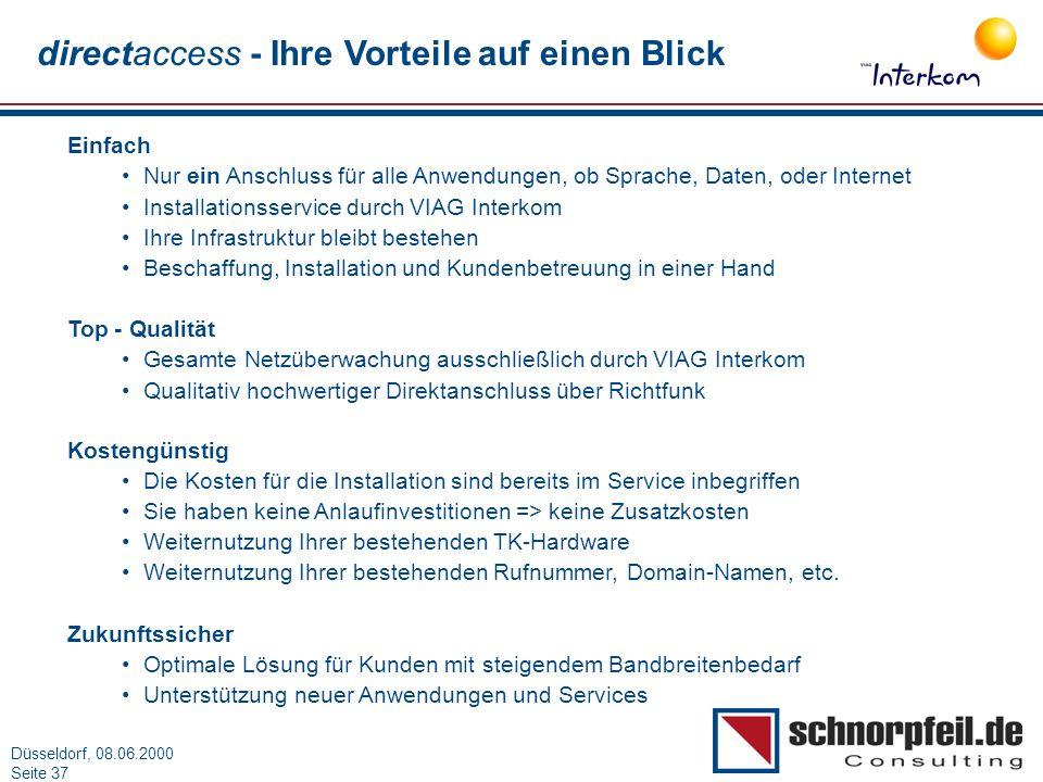 directaccess - Ihre Vorteile auf einen Blick
