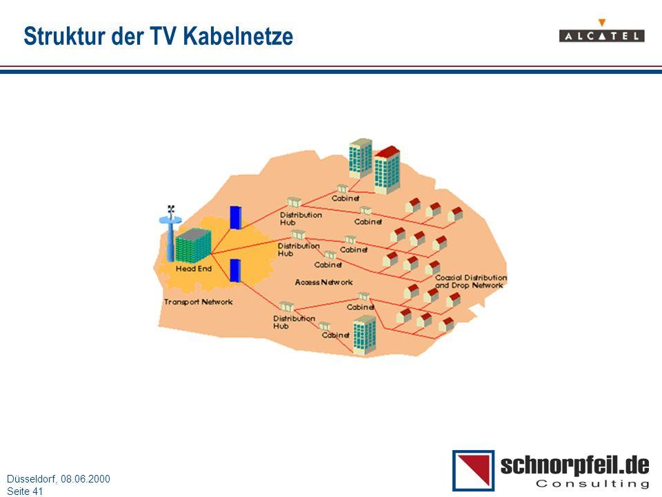 Struktur der TV Kabelnetze