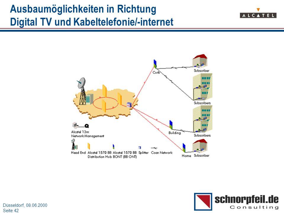 Ausbaumöglichkeiten in Richtung Digital TV und Kabeltelefonie/-internet