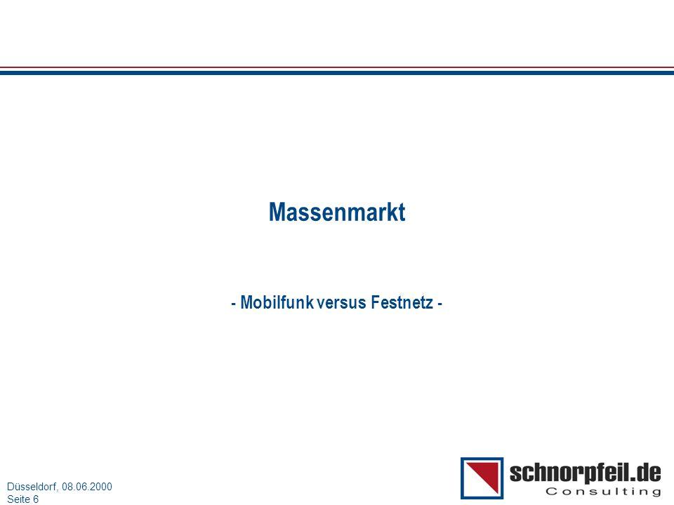 - Mobilfunk versus Festnetz -