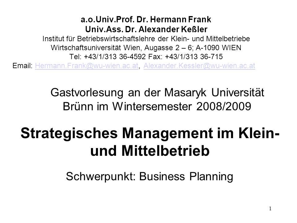 Strategisches Management im Klein- und Mittelbetrieb