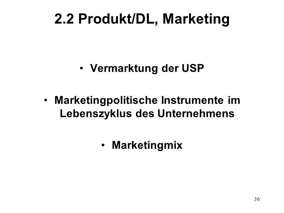 Marketingpolitische Instrumente im Lebenszyklus des Unternehmens
