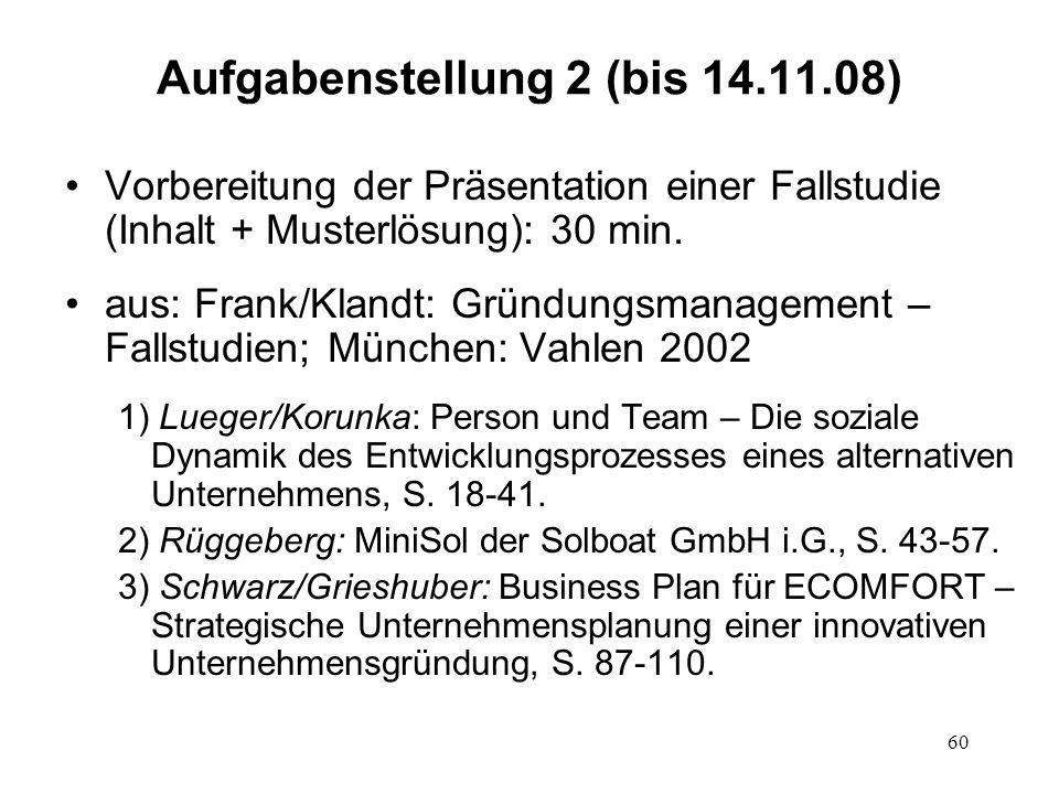Aufgabenstellung 2 (bis 14.11.08)