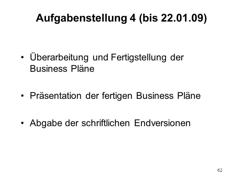Aufgabenstellung 4 (bis 22.01.09)