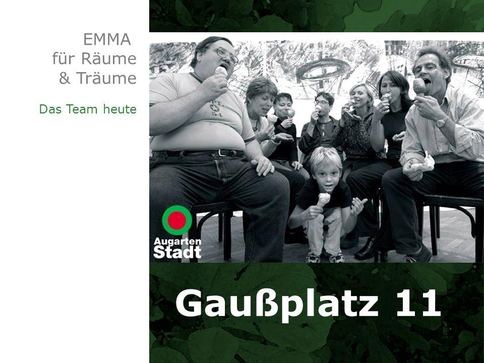 EMMA für Räume & Träume Das Team heute Gaußplatz 11