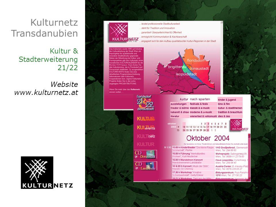 Kulturnetz Transdanubien Kultur & Stadterweiterung 21/22 Website