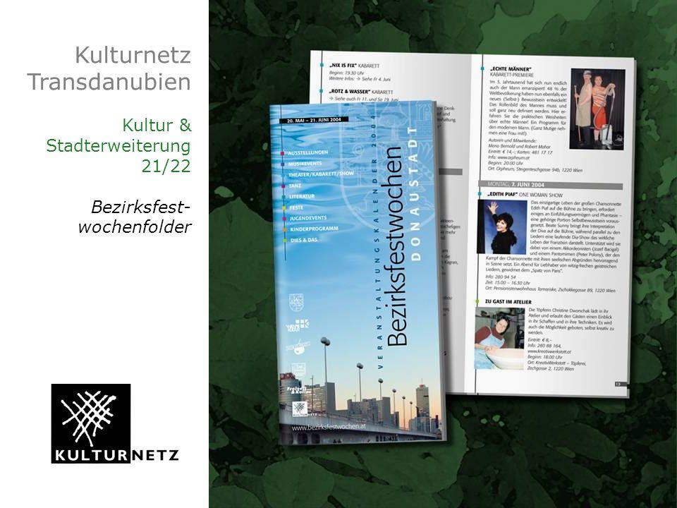 Kulturnetz Transdanubien Kultur & Stadterweiterung 21/22 Bezirksfest-