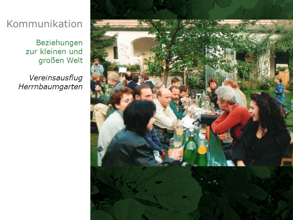 Kommunikation Beziehungen zur kleinen und großen Welt Vereinsausflug