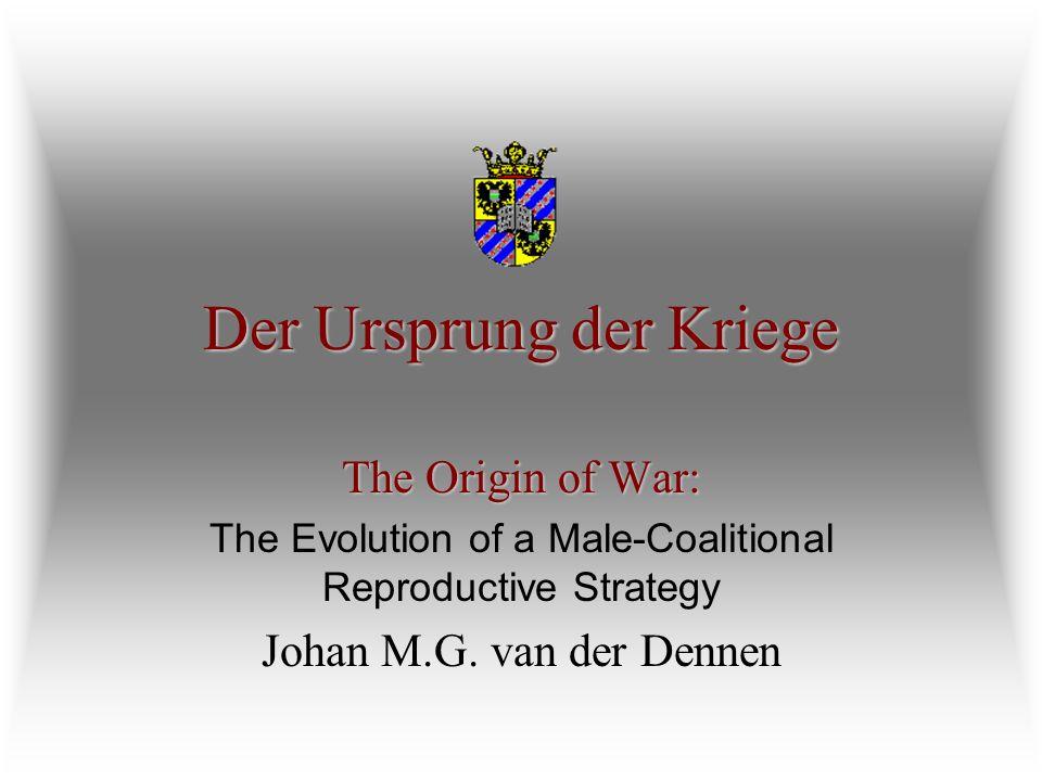 Der Ursprung der Kriege