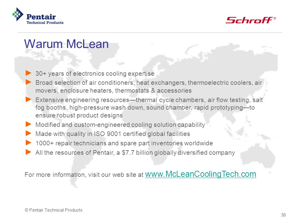 Warum McLean 30+ years of electronics cooling expertise