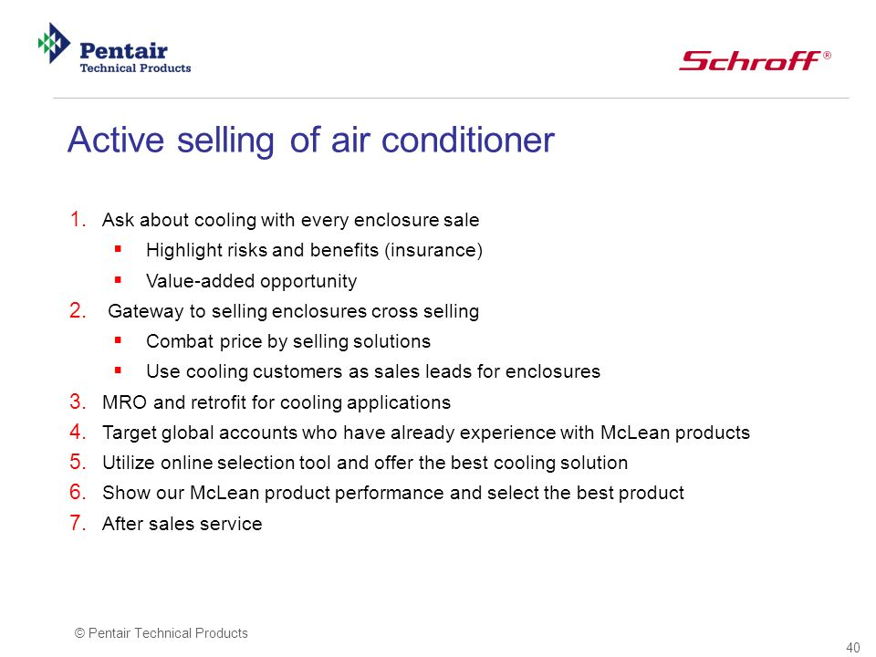 Active selling of air conditioner
