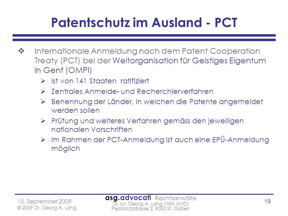 Patentschutz im Ausland - PCT