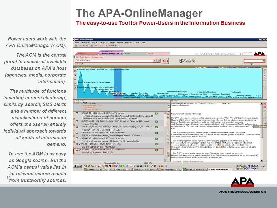 The APA-OnlineManager