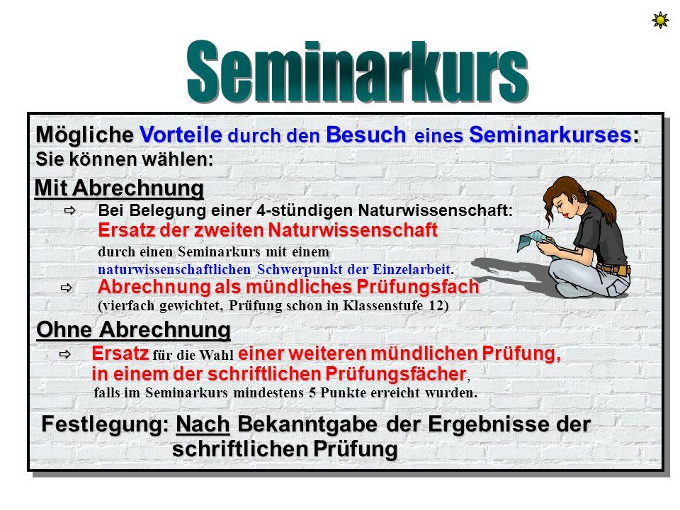 Seminarkurs Seminarkurs