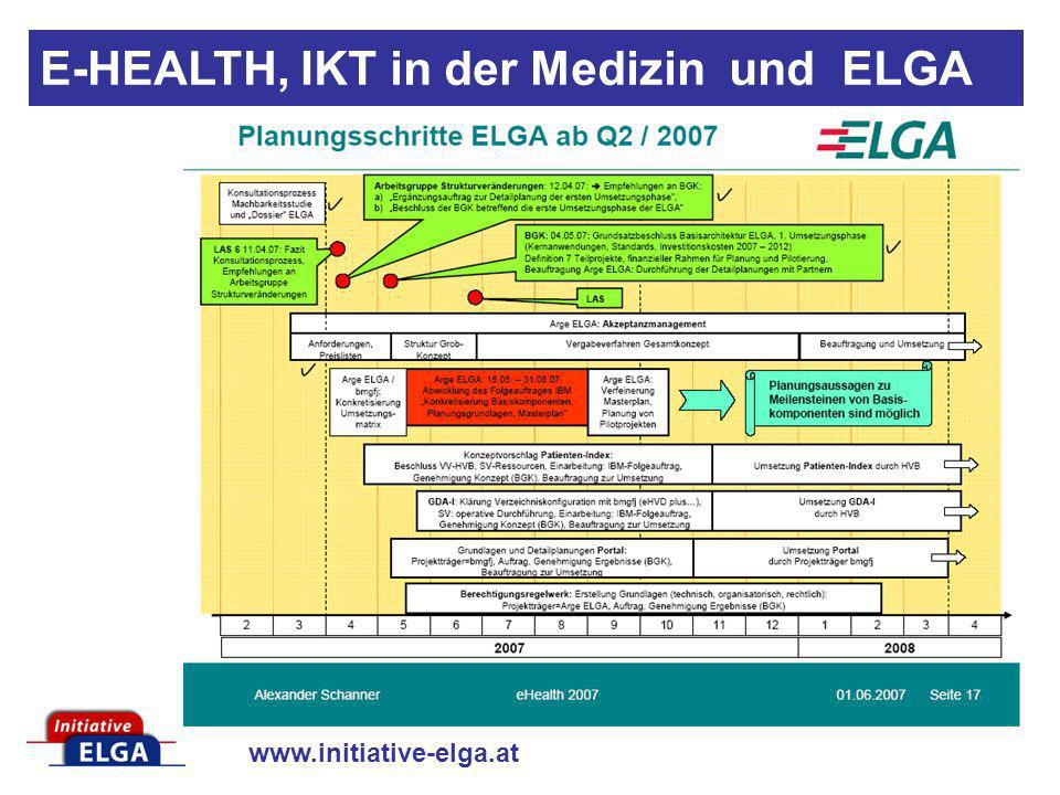 E-HEALTH, IKT in der Medizin und ELGA