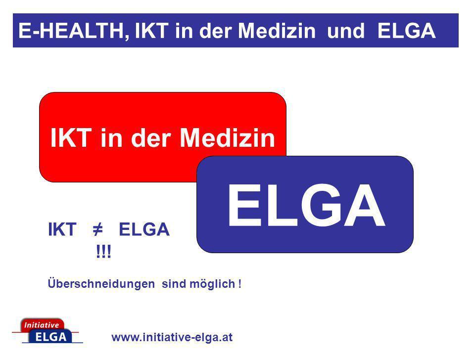 ELGA IKT in der Medizin E-HEALTH, IKT in der Medizin und ELGA