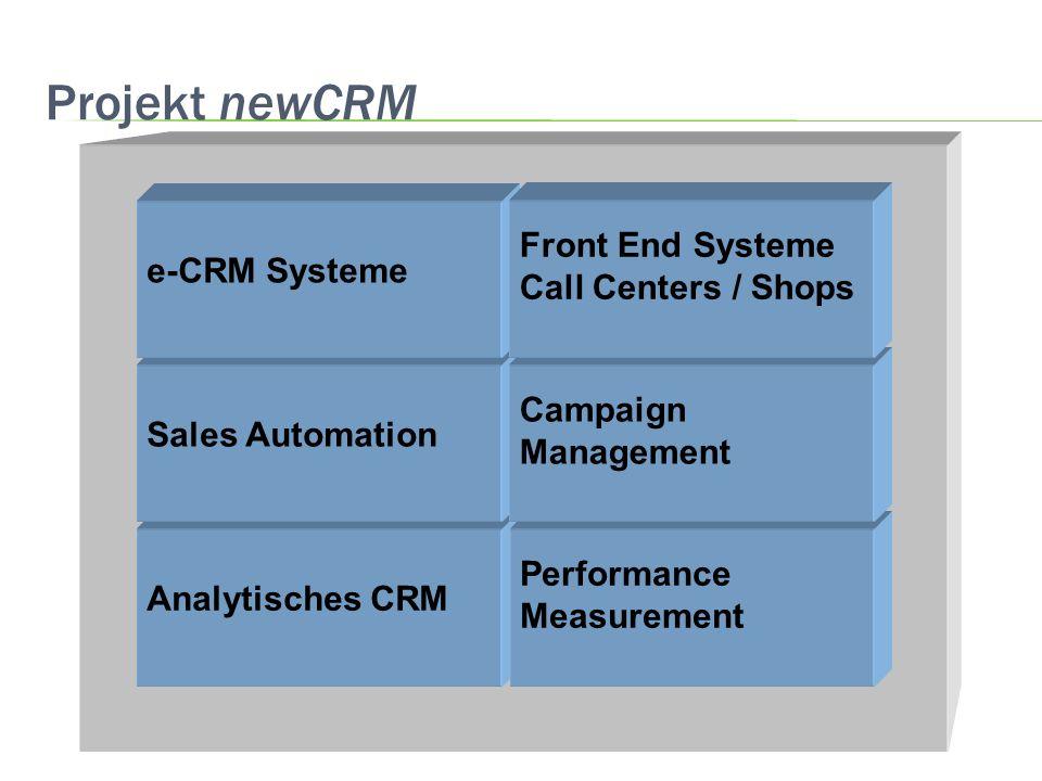 Projekt newCRM e-CRM Systeme Campaign Management Sales Automation