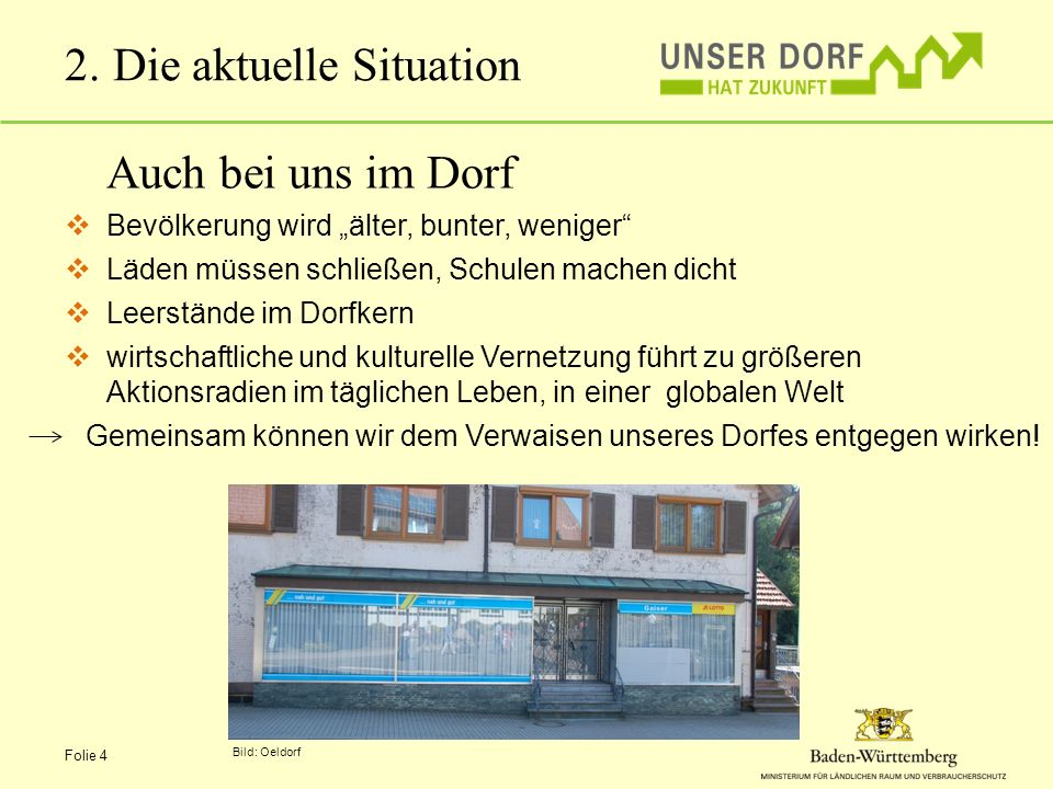2. Die aktuelle Situation
