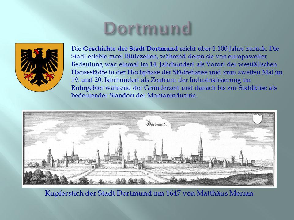 Kupferstich der Stadt Dortmund um 1647 von Matthäus Merian