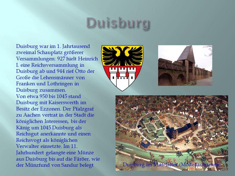 Duisburg im Mittelalter (Modellaufnahme