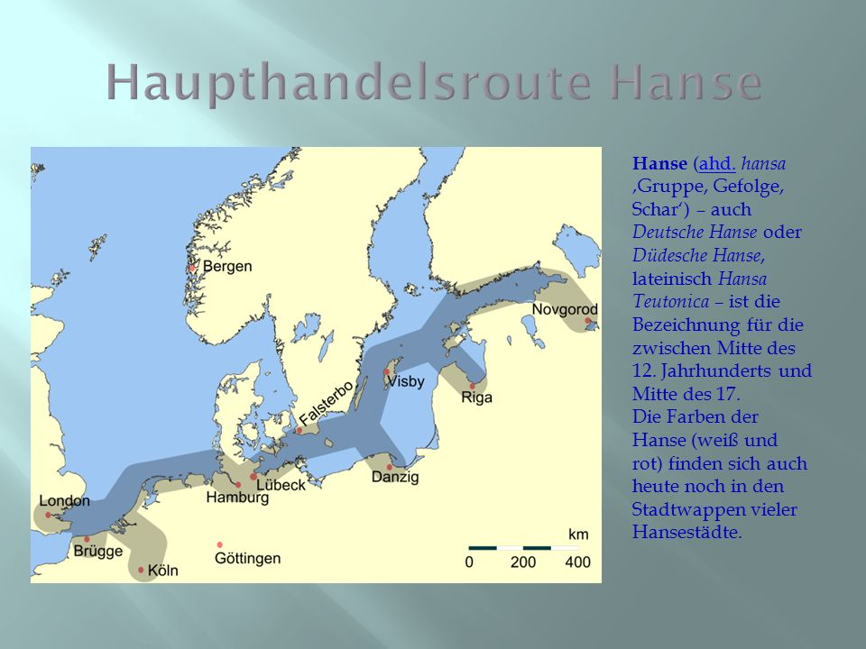 Haupthandelsroute Hanse