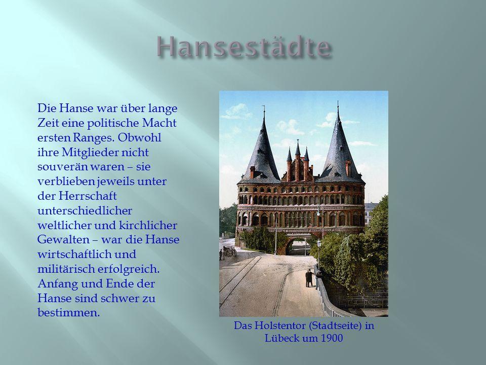 Das Holstentor (Stadtseite) in Lübeck um 1900