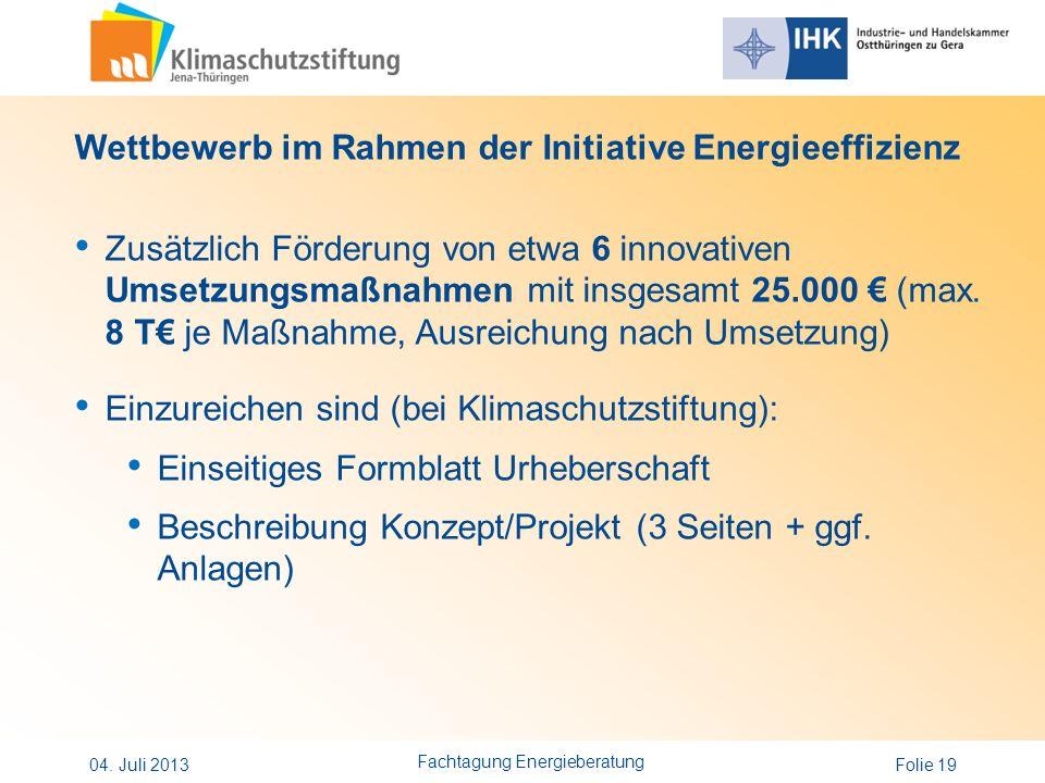 Fachtagung Energieberatung