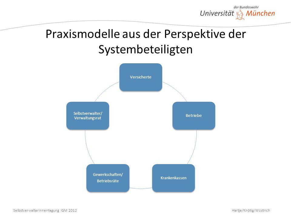 Praxismodelle aus der Perspektive der Systembeteiligten