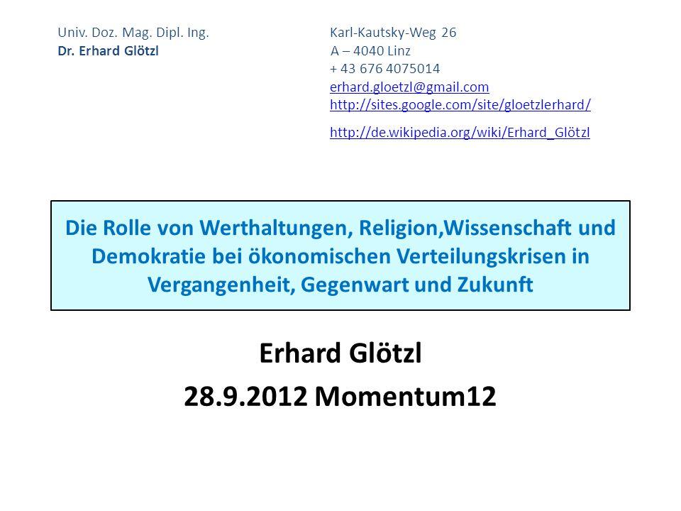 Erhard Glötzl 28.9.2012 Momentum12