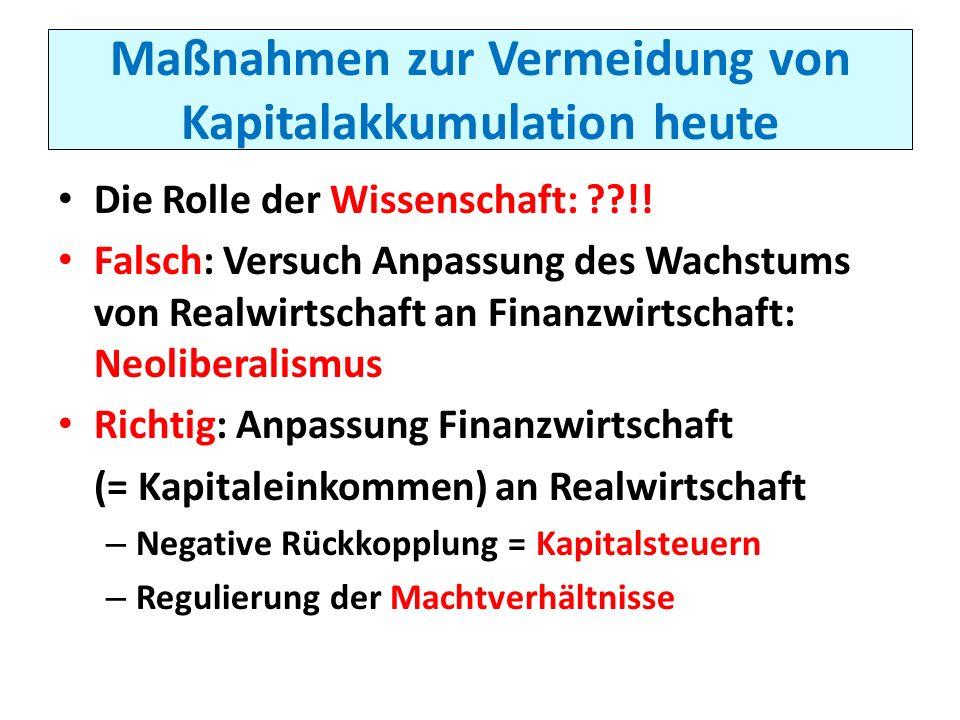 Maßnahmen zur Vermeidung von Kapitalakkumulation heute