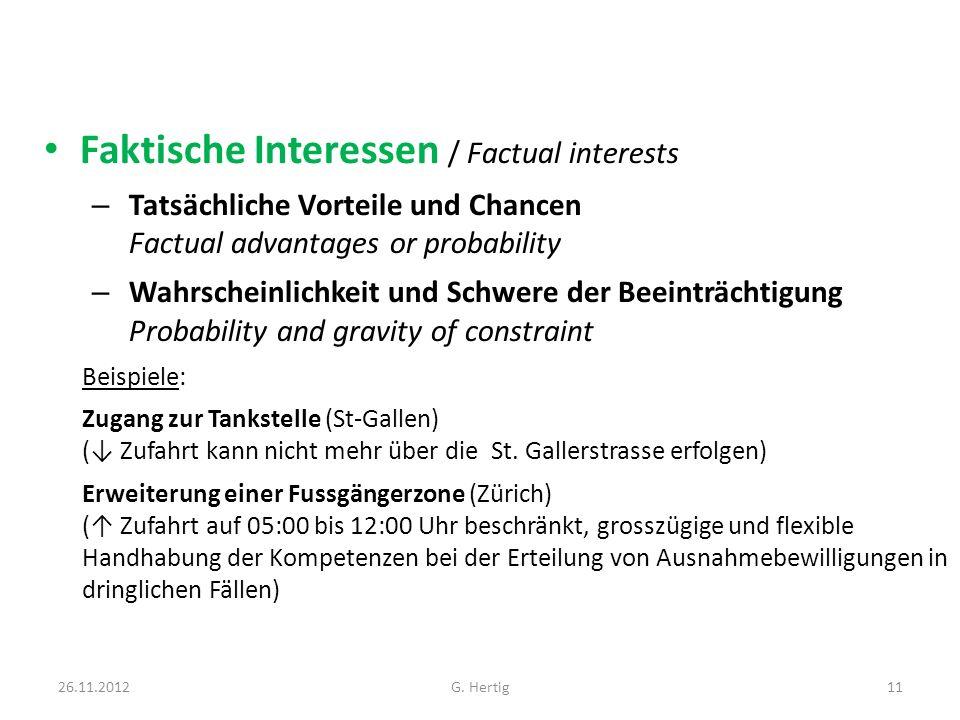 Faktische Interessen / Factual interests