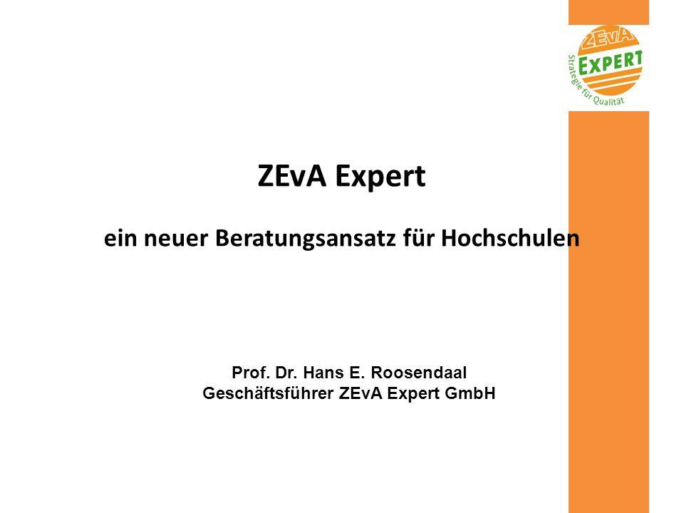 ZEvA Expert ein neuer Beratungsansatz für Hochschulen
