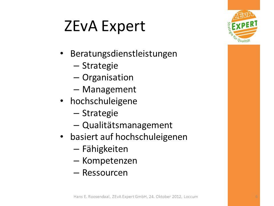 Hans E. Roosendaal, ZEvA Expert GmbH, 24. Oktober 2012, Loccum