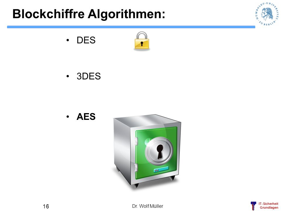 Blockchiffre Algorithmen: