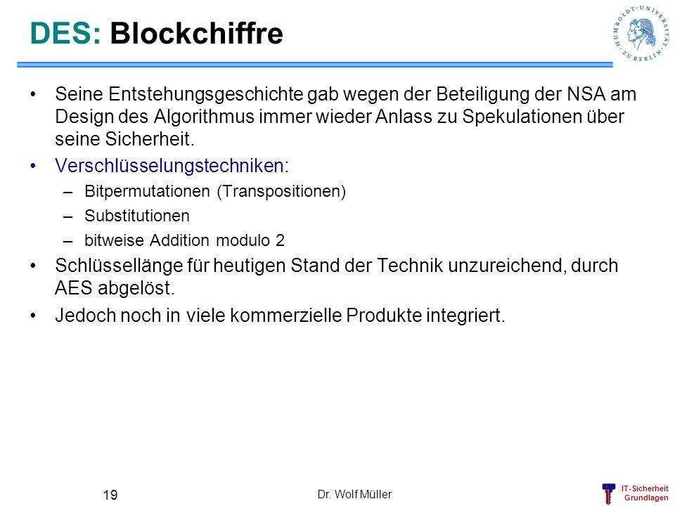 DES: Blockchiffre