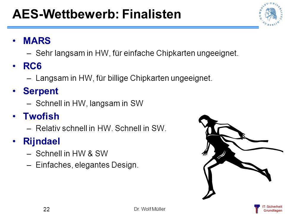 AES-Wettbewerb: Finalisten