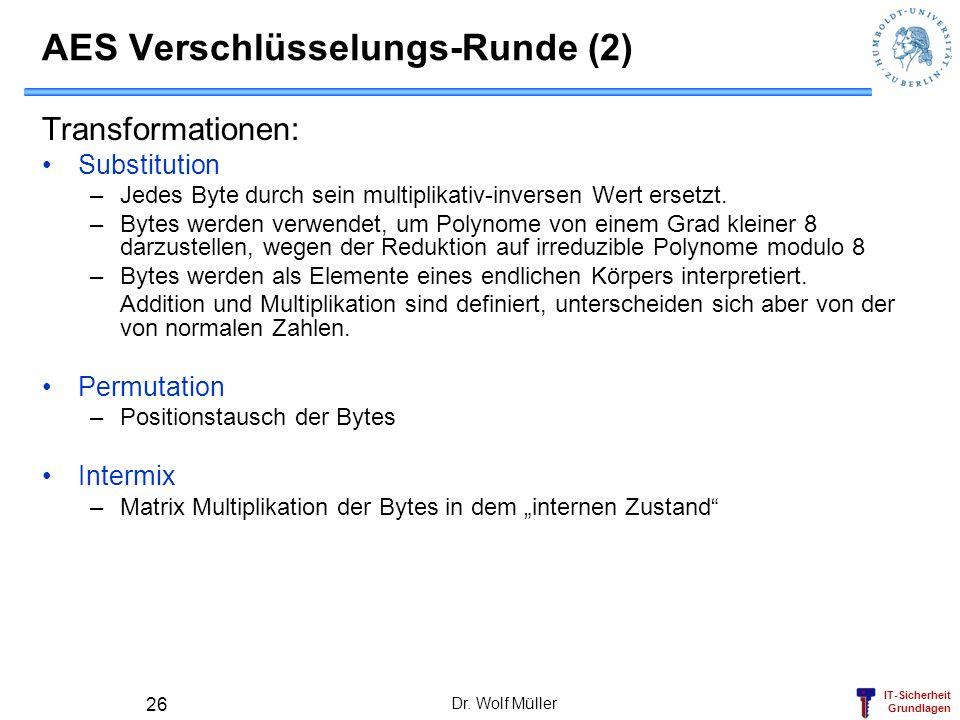 AES Verschlüsselungs-Runde (2)