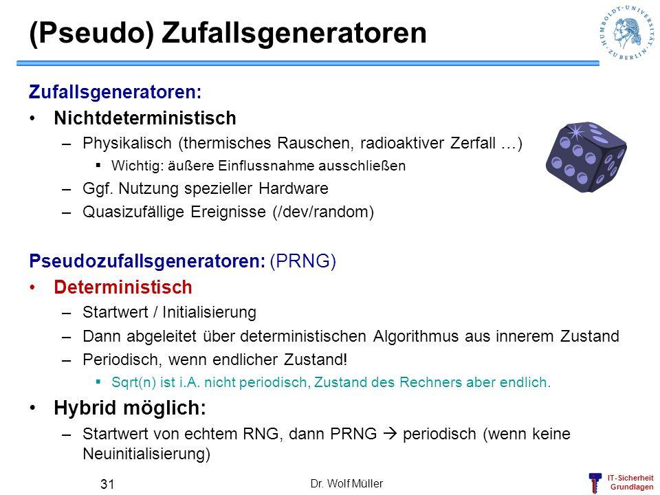 (Pseudo) Zufallsgeneratoren