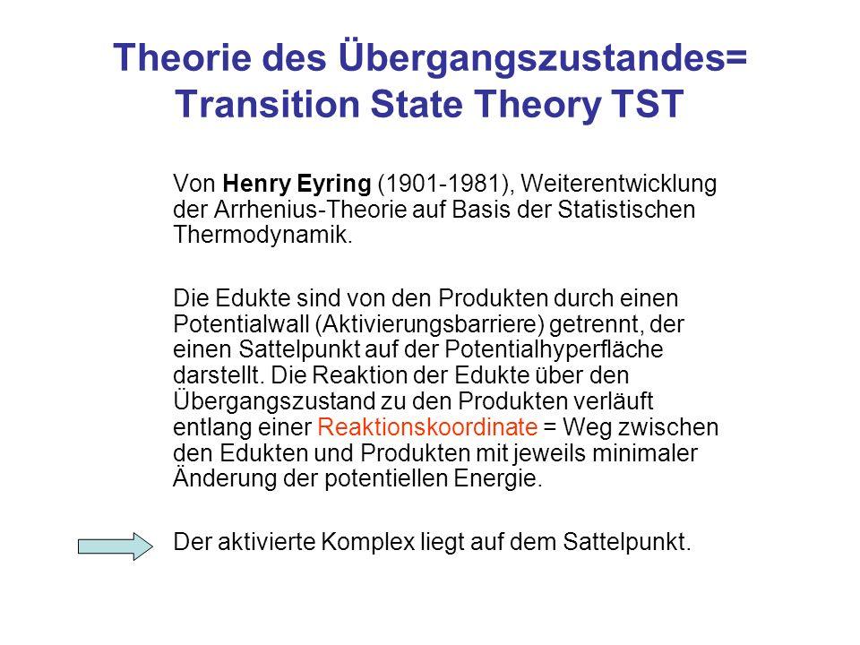 Theorie des Übergangszustandes= Transition State Theory TST