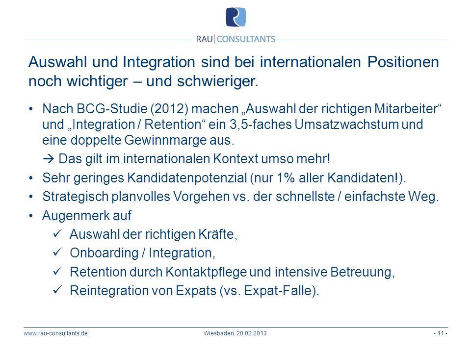 Auswahl und Integration sind bei internationalen Positionen noch wichtiger – und schwieriger.