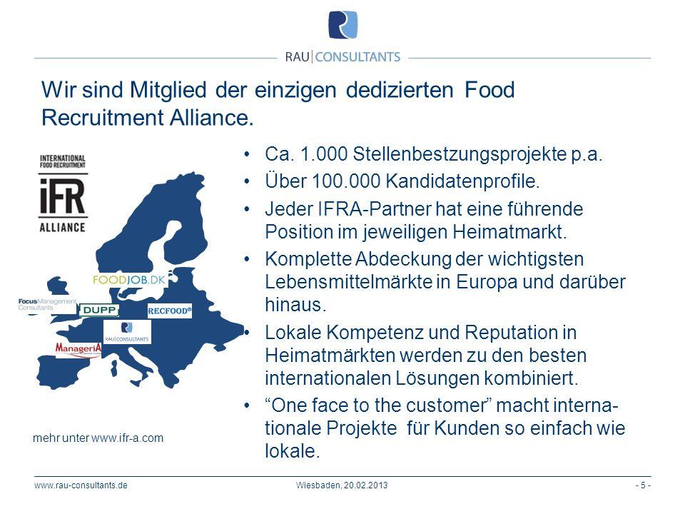 Wir sind Mitglied der einzigen dedizierten Food Recruitment Alliance.